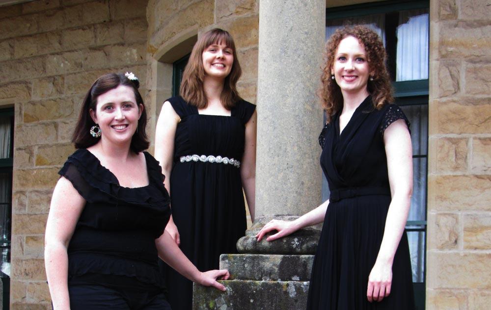 The Jacaranda trio - Nicola Hayden, Danielle Skerman and Maree Kilpatrick