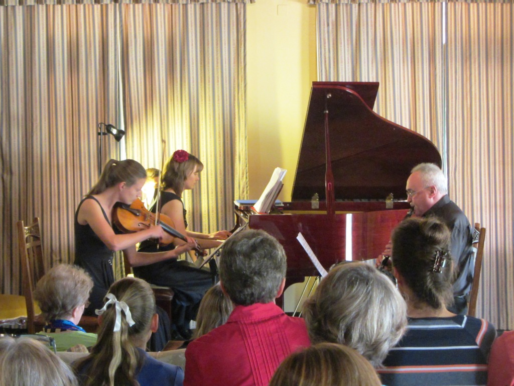 The trio in performance