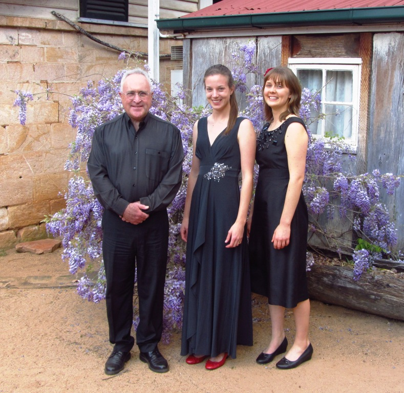 From left: Martin Crook, clarinet; Elizabeth Lawrence, viola, and Maree Kilpatrick, piano.