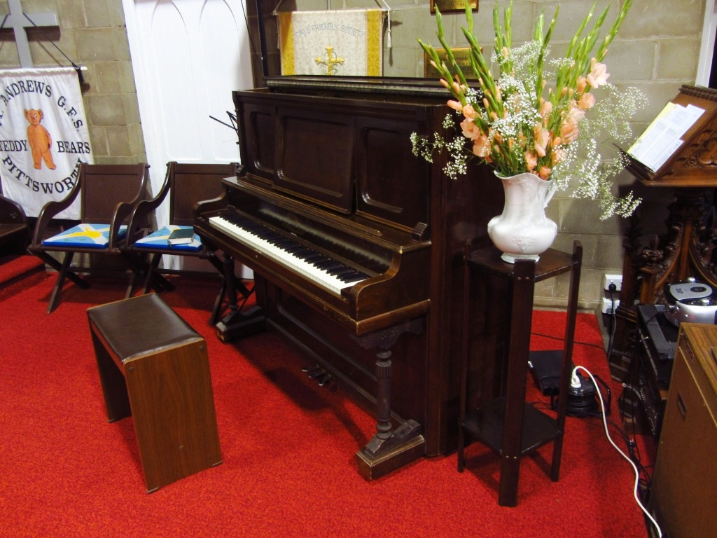Piano in St Andrew's Church, Pittsworth
