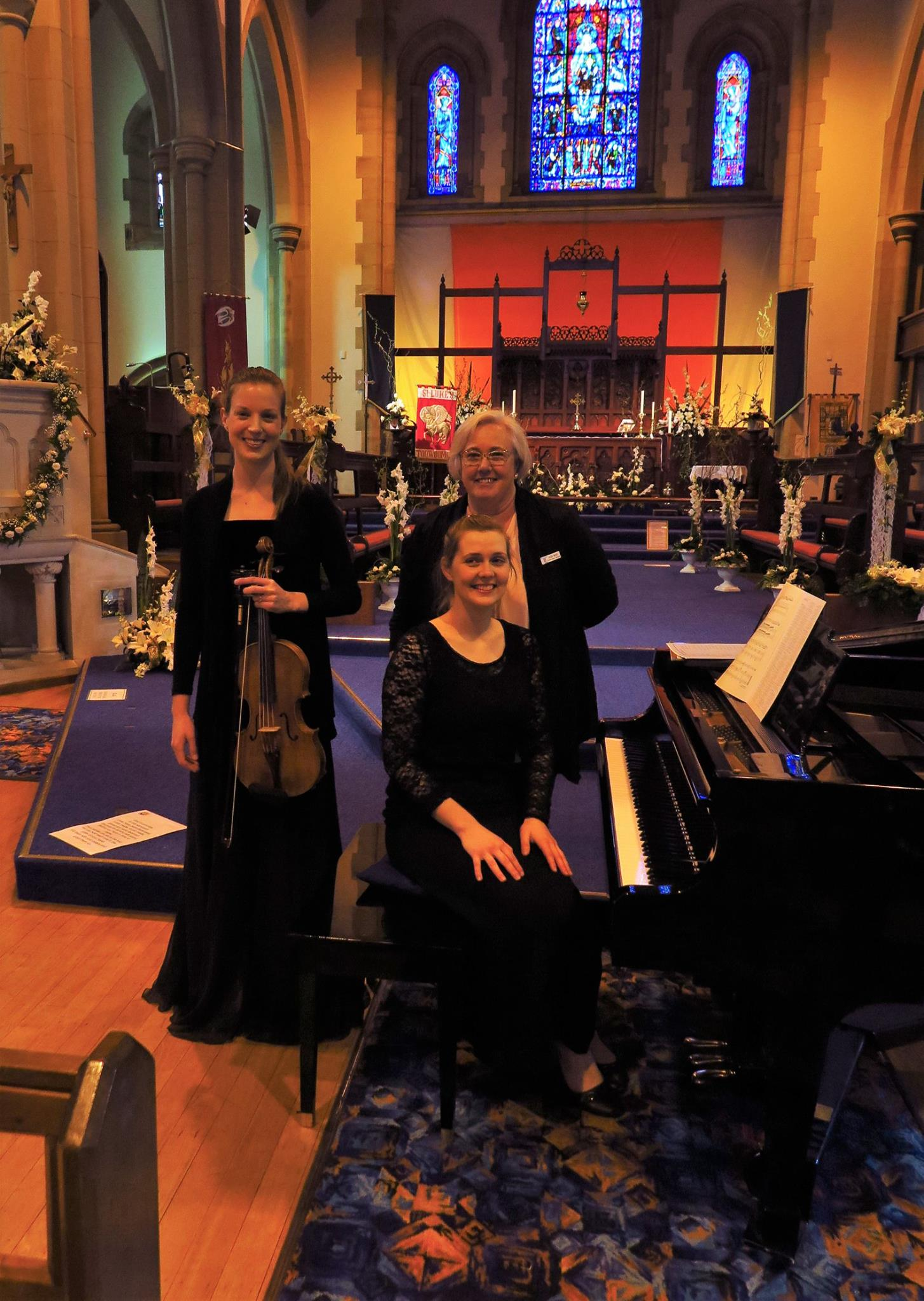 20-9-16 Lunch recital at St Luke's featuring Elizabeth Lawrence (viola) and Maree Kilpatrick (piano)